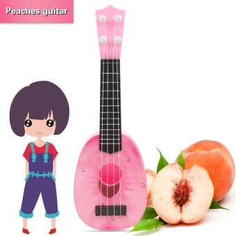 HLY Fruit Ukelele Guitar 4 Strings Ukulele Colorful Lovely Musicalinstrument Guitars Christmas Gift(Peaches) - intl