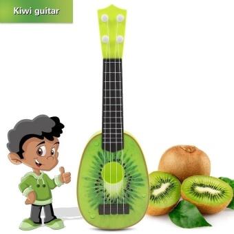 HLY Fruit Ukelele Guitar 4 Strings Ukulele Colorful Lovelymusicalinstrument Guitars Christmas Gift(Kiwi) - intl