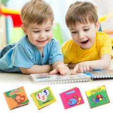 Kid Child Intelligence Development Play Reading Soft Cloth Baby Learning Book - Intl By Costel