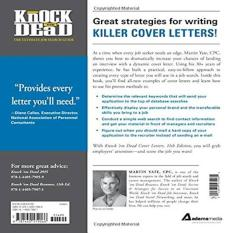 Exceptional Knock Em Dead Cover Letters Cover Letters And Strategies To Get The Job You  Want