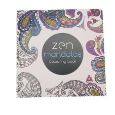 LALANG Secret Garden Zen Mandalas Painting Coloring Book English Edition 24 Pages