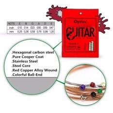 Orphee TX620-P Hexagonal core 99% Pure Copper Extra Light Gauge Acoustic Guitar Strings