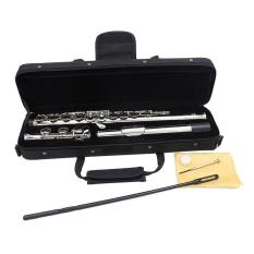OSMAN Silver Plated 16 Closed Holes Flute C Key Western Concert Musical Instrument