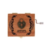 Retro Wooden Musical Box Hand Crank Music Box Exquisite Workmanship - intl image