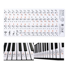 0fff8eaa5ce Transparent 37 49 61 Electronic Keyboard 88 Key Piano Stave Note Sticker  Notation Version   Sheet