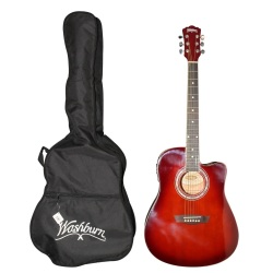 Washburn Acoustic Guitar with EQ Package (Red Burst)
