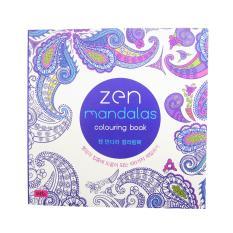 White Blue T263 Zen Mandalas Coloring Book 000855 W50 MP