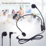 Wired Head Mounted Headworn Headset Microphone Flexible Lightweight 3.5mm - intl image