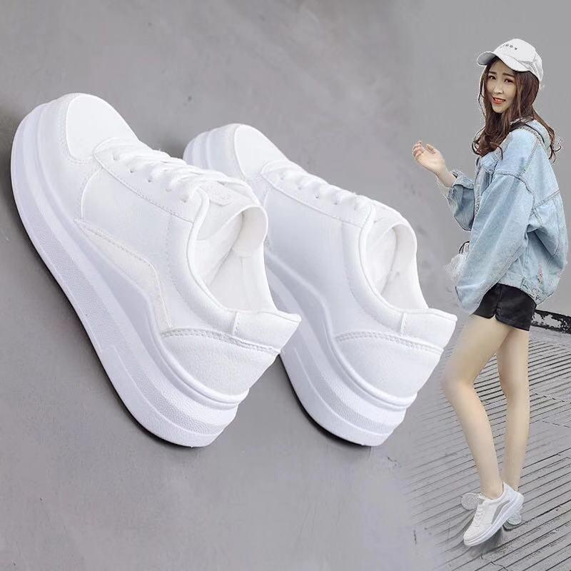 KP Korean White Rubber Shoes for Women
