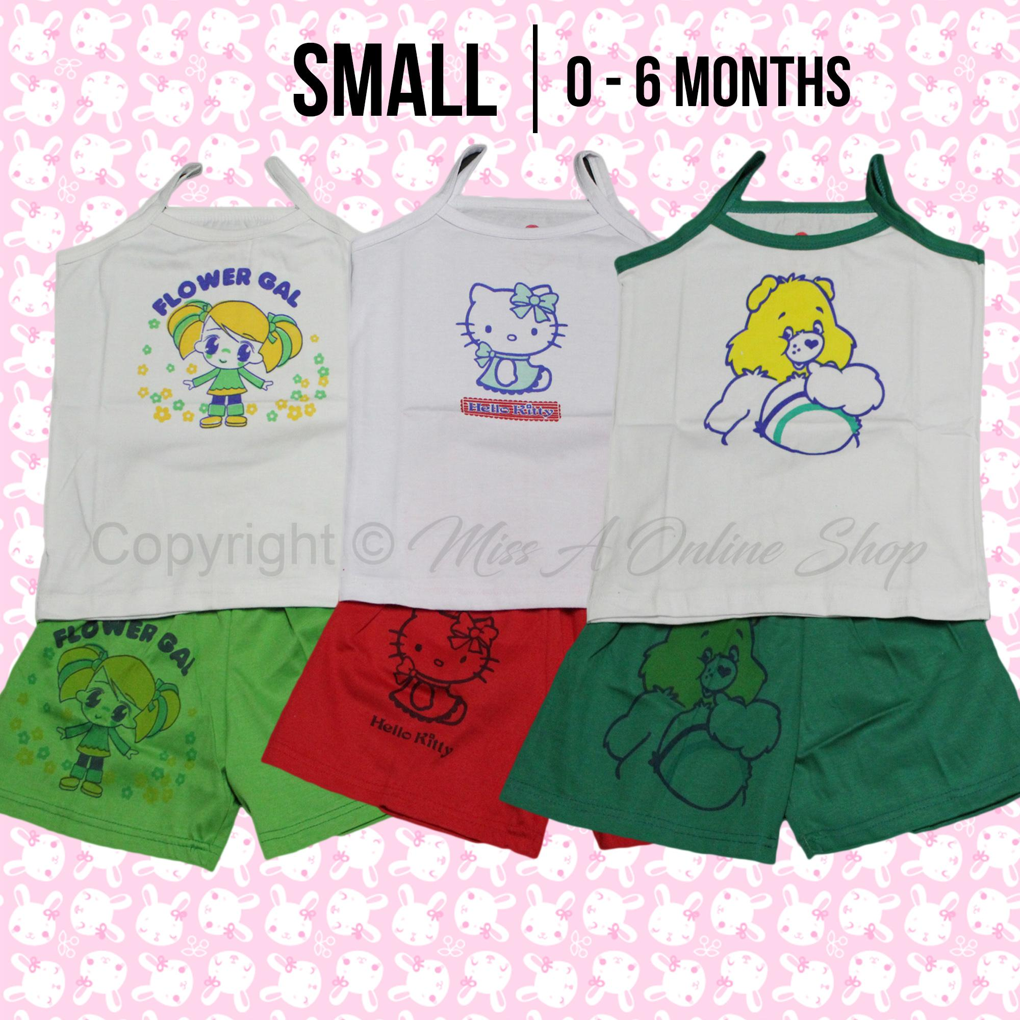 Character Terno For Girls 0-7yrs old (3Pairs assorted)