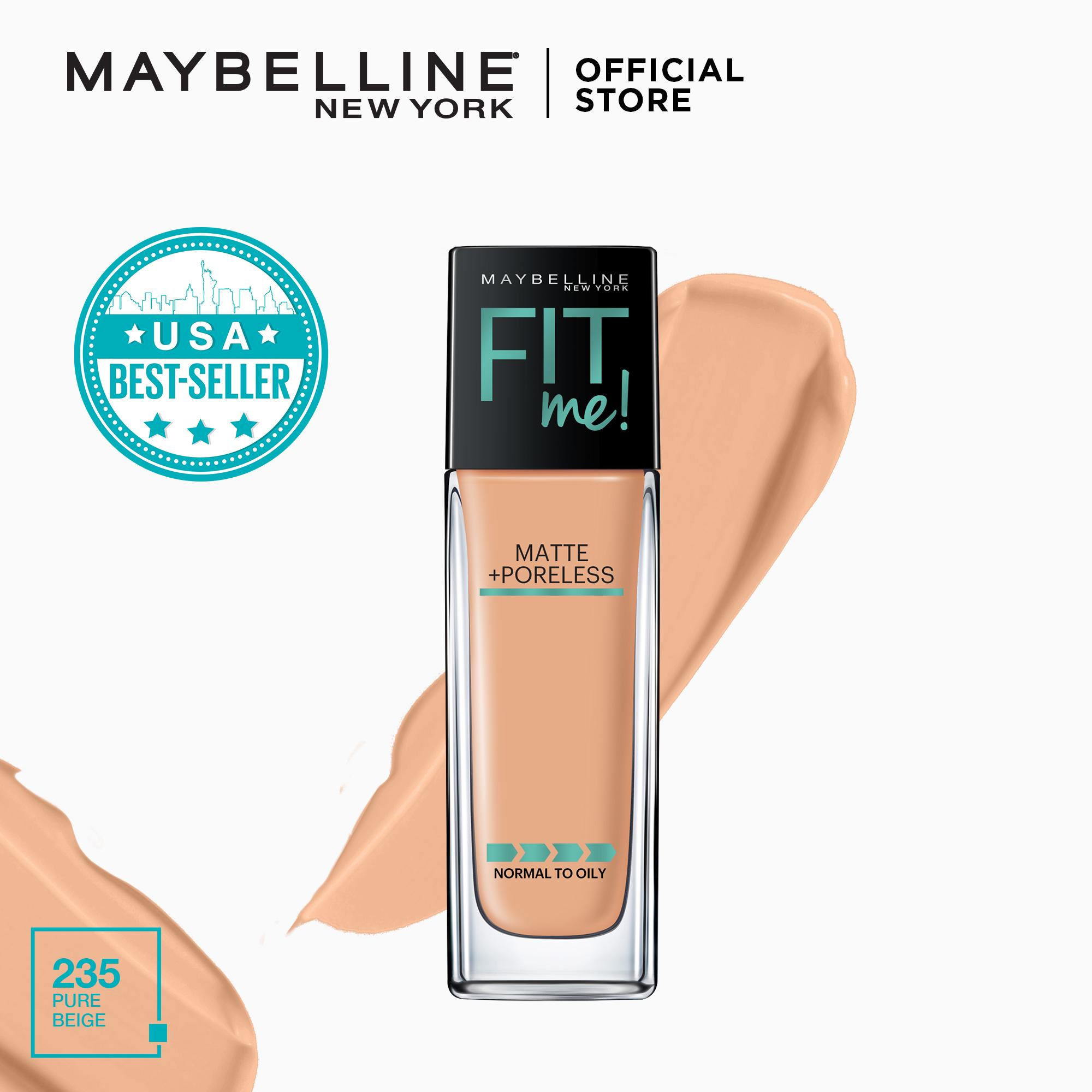 Maybelline Fit Me Matte + Poreless Liquid Foundation 30 Ml By Maybelline.
