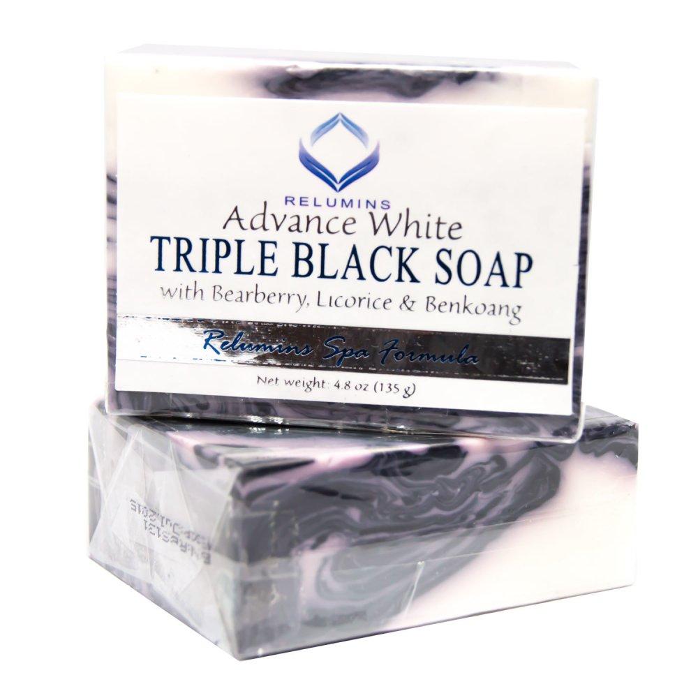 Relumins Advance  White Triple Black Soap 135g Set of 2