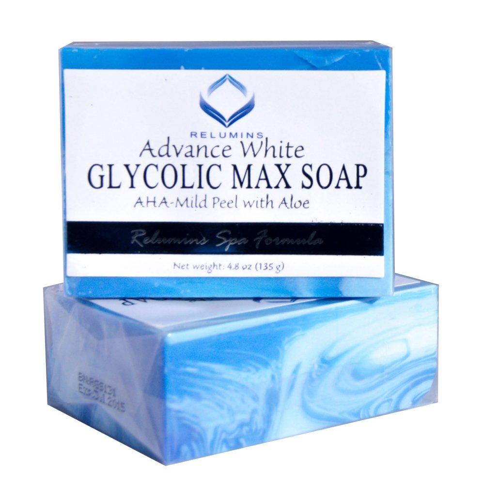 Relumins Advance White Glycolic Max Soap 135g Set of 2 (Blue)