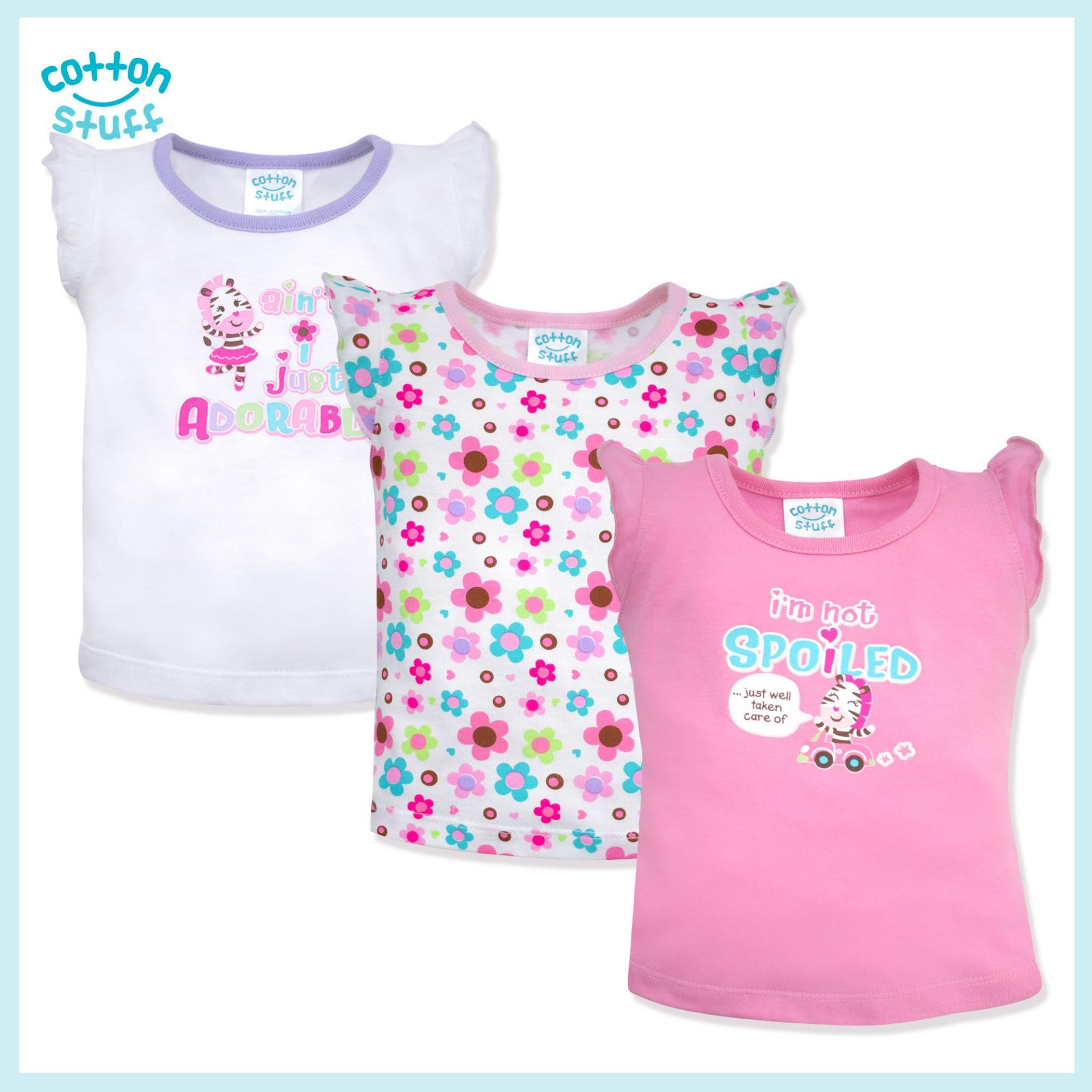 08fe9c45ac Cotton Stuff - 3-piece Sleeveless Ruffle Blouse (Girls and Their Toys)