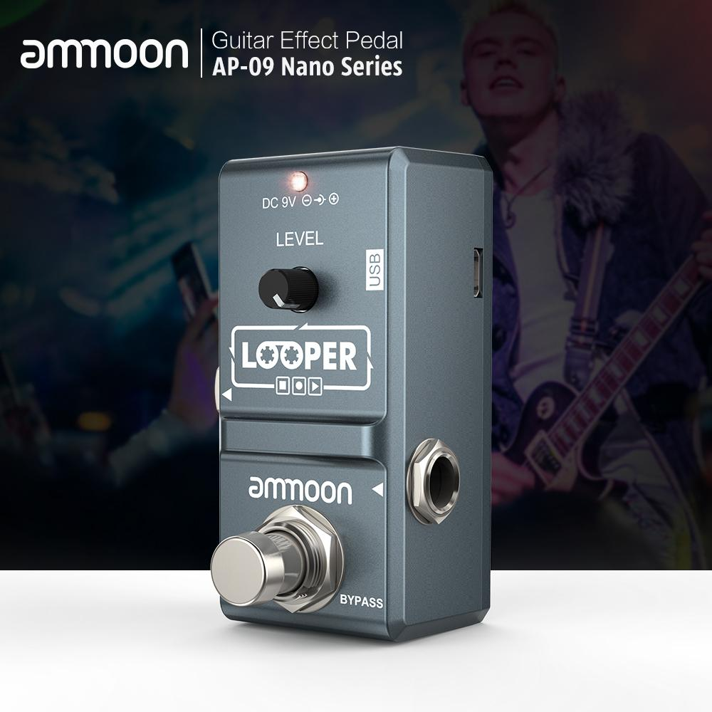 Ammoon Ap-09 Nano Loop Electric Guitar Effect Pedal Looper True Bypass Unlimited Overdubs 10 Minutes Recording With Usb Cable By Tongda Store.