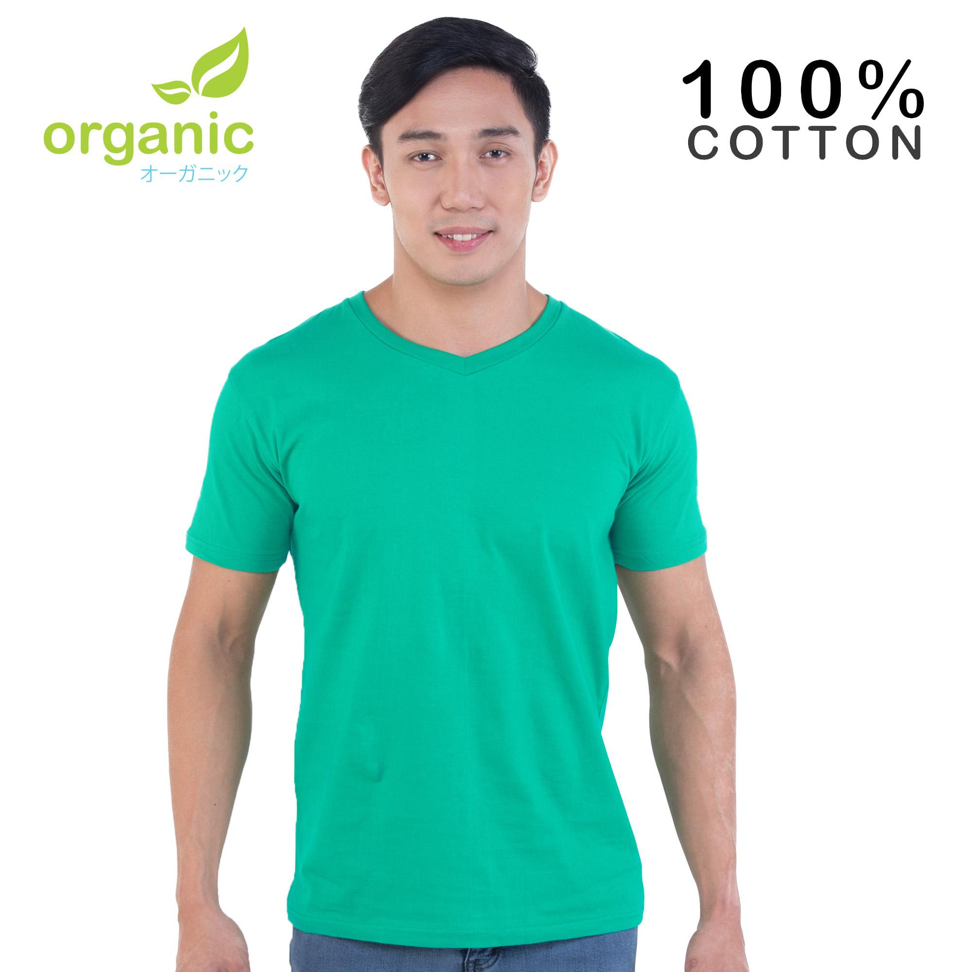 c492210a1010 Organic Mens 100% Cotton Vneck Tees t shirt tshirt shirts tshirts v neck tops  top