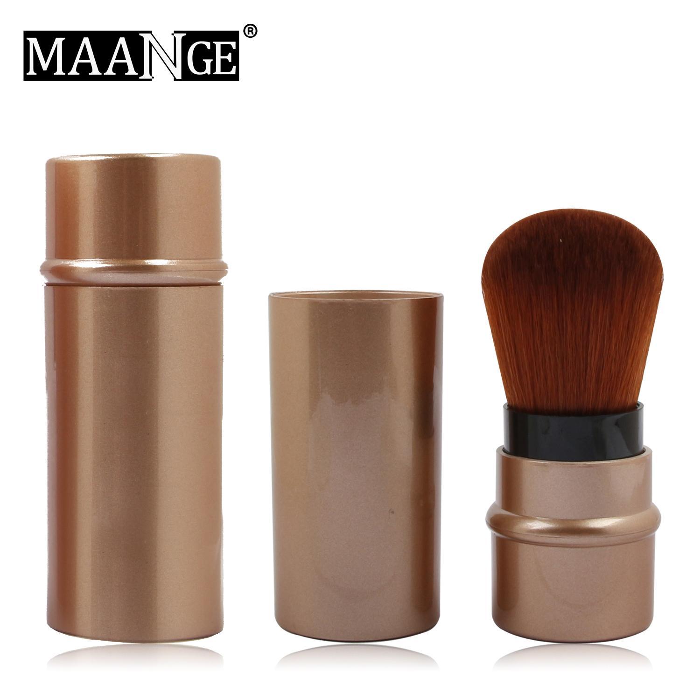 68cb03726078 MAANGE 1Pcs Retractable Soft Make up Brush Blush Powder Foundation Brush