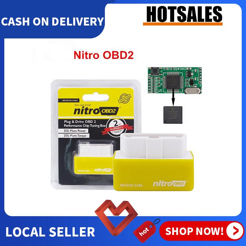 Nitro OBD2 For Petrol Car Chip Performance Tuning Plug & Play Auto ECU Remap Brand New(Yellow)[Benzine Cars][100% Original]