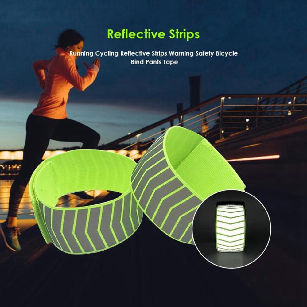 Warning Night Reflective Tape Running Leg Strap Cycling Reflective Strips