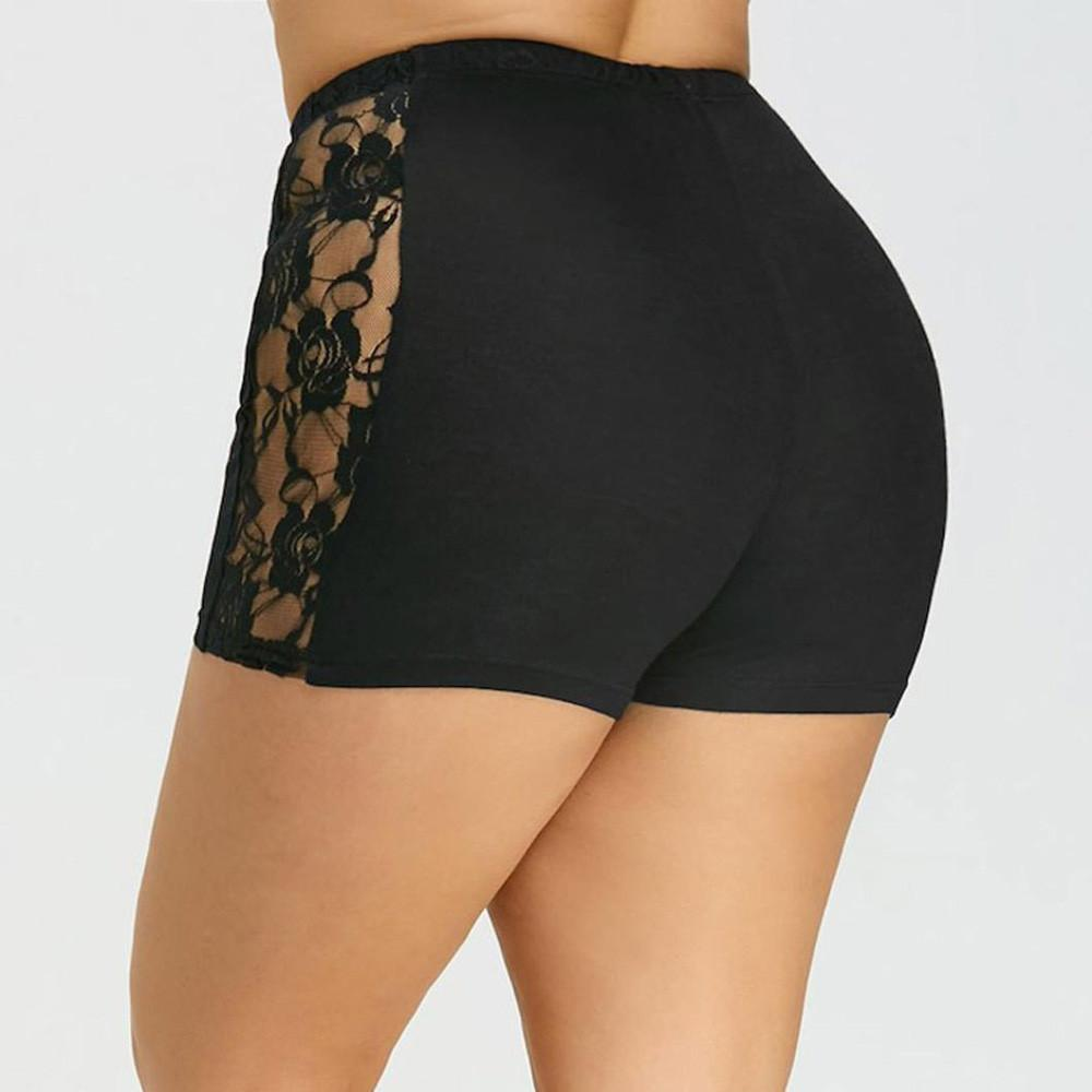 New Style Women Lace Plus Size Tiered Skirts Short Skirt Under Safety Pants Shorts