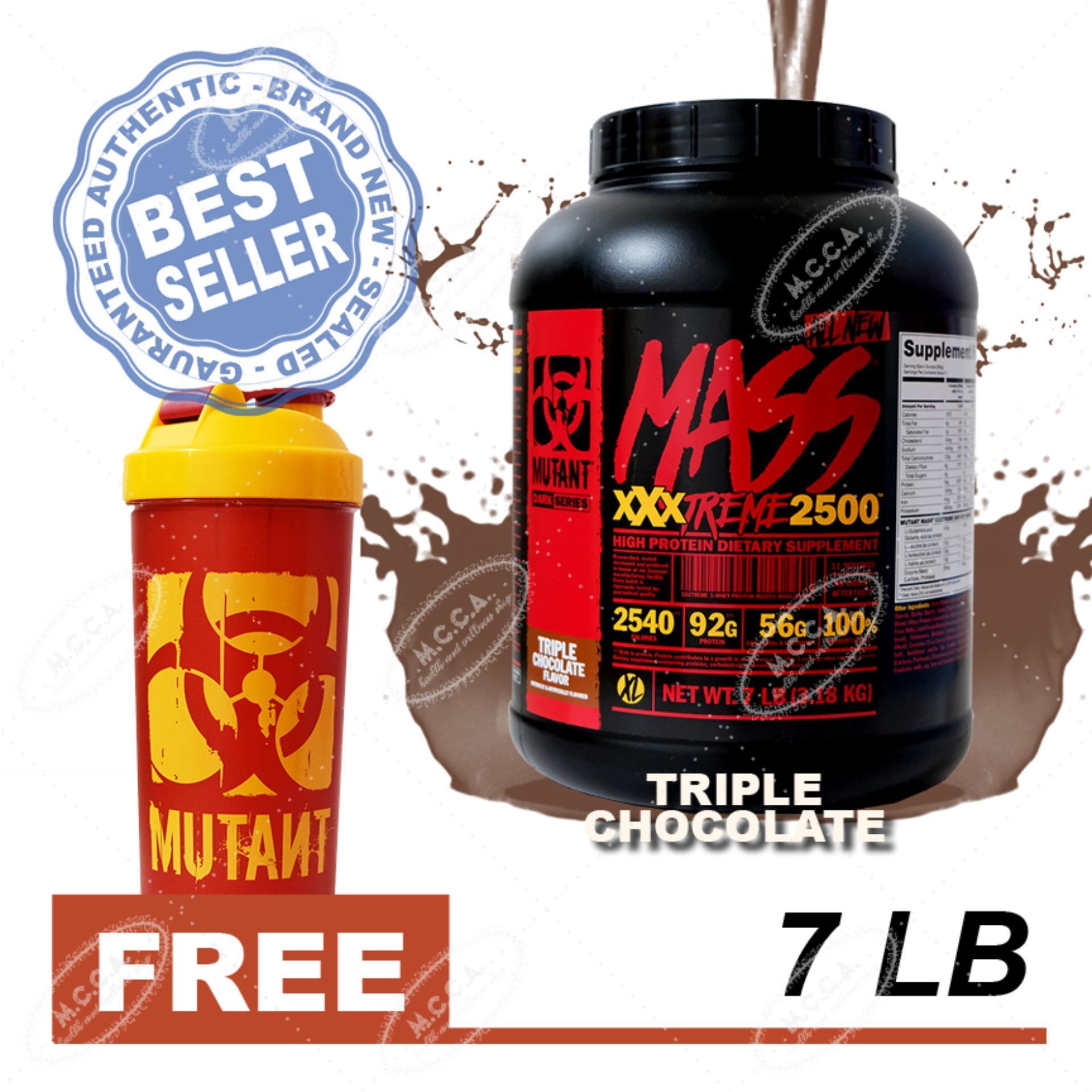 Mutant Mass Xxxtreme 2500 7lbs (Triple Chocolate) with Free Mutant Shaker