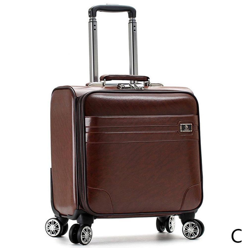 Luggage Bags Suitcase Bags Boarding the chassis 18 suitcase case small PU small female small fresh business boarding suitcase student Korean trolley inch F4L3