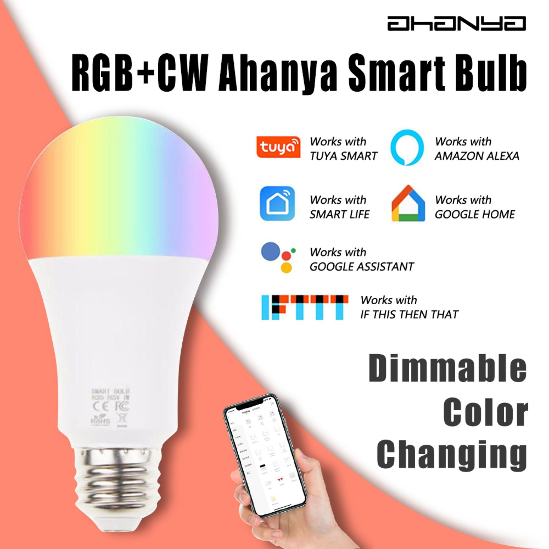 WiFi Smart Light Bulb Dimmable Multi-color APP Controlled Led Lamp No Hub  Required 7 Watts RGBW LED color changing - Works With Alexa Google Home