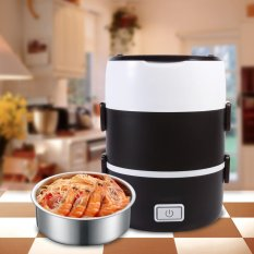 3 Tier Electric Heated Heating Lunch Box Set Food Warmer Container Bento Portable 220v - Intl By 1buycart.