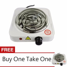 Adventurers Buy One Take One 1010b Hot Plate Electric Cooking Stove Single (white) By Adventurers.