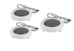 Electronic Coffee Cup Warmer Set of 3 (White)