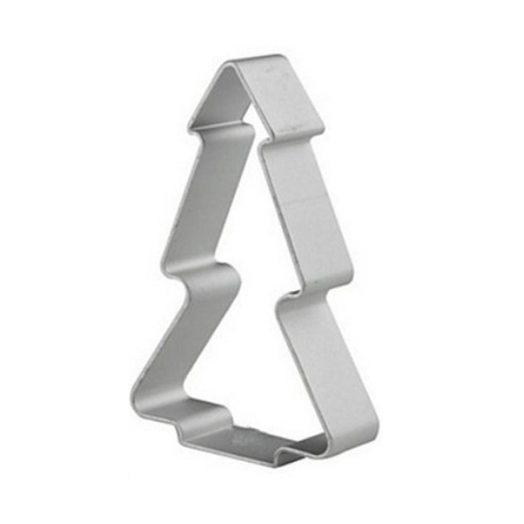 ELENXS Christmas Tree Shaped Buscuit Tools (Silver) - thumbnail