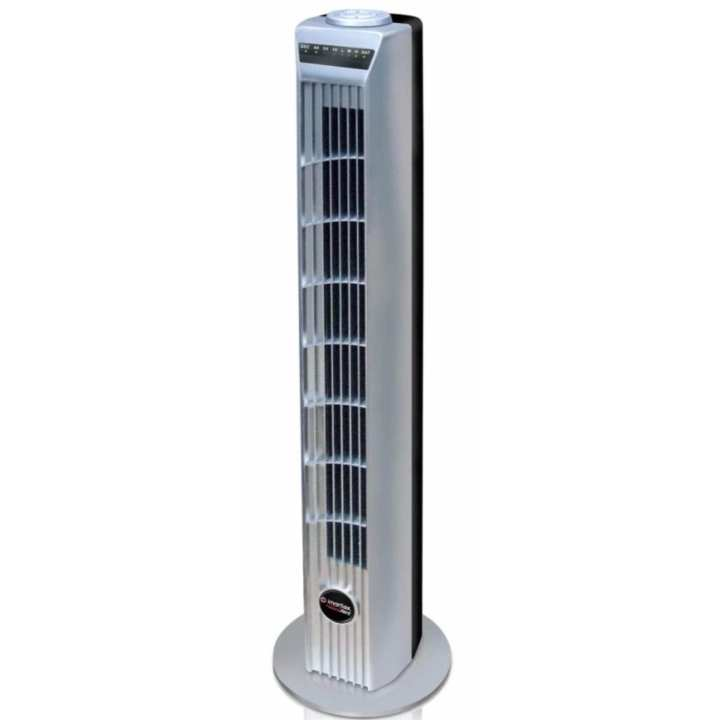 Imarflex IF-732R Oscillating Tower Fan with Remote (Grey)