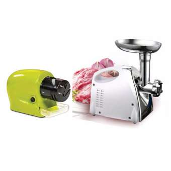 Ju0026J 2800W Electric Meat Grinder Kitchen Steel Sausage Filler Minc  Vegetableres Maker And Cordless Motorized Knife