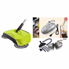 Jk-8 1000W Vacuum Cleaner Air Circular System (Silver) With 360 Rotary Home Use Magic Manual Telescopic Floor Dust Sweeper