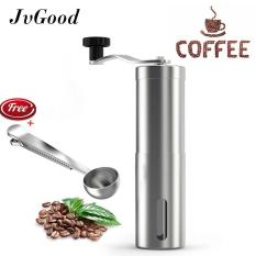 Jvgood Manual Coffee Grinder With Hand Crank Conical Burr Mill For Precision Brewing, Spice And Herbs- Comes With Free Scoopfee Grinder With Hand Crank Conical Burr Mill For Precision Brewing, Spice And Herbs- Comes With Free Scoop By Jvgood.