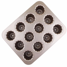 Carbon Steel Cannele Pan, 12-Cavity Non Stick Cannele Mold, Golden - Intl By Mylifeunit Shop.