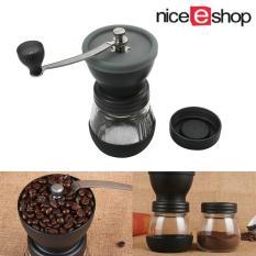 niceEshop Manual Coffee Grinder Coffee Mill Grinding Mill Pepper Grinder Bean Grinder With Sealed Can,
