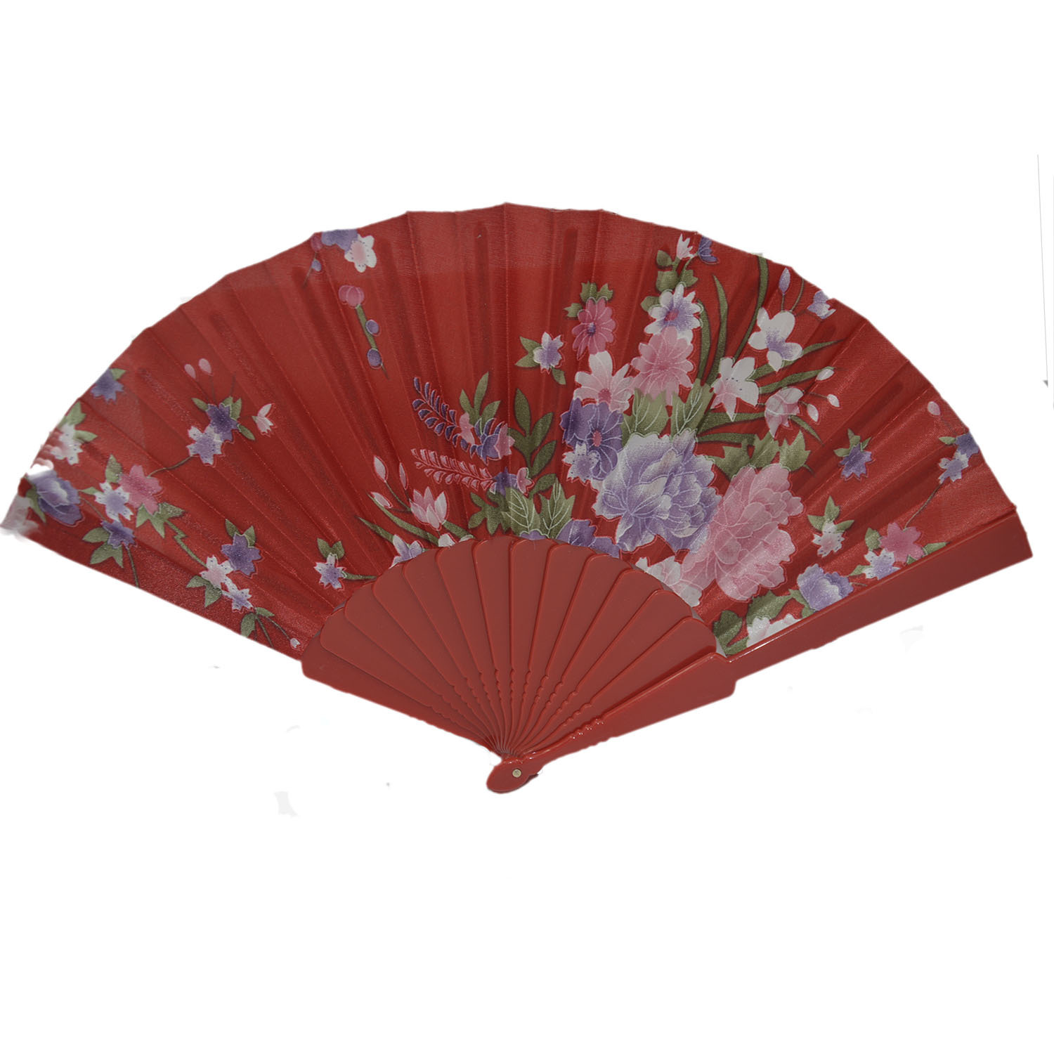 Vococal Handheld Folding Hand Fan (Red)