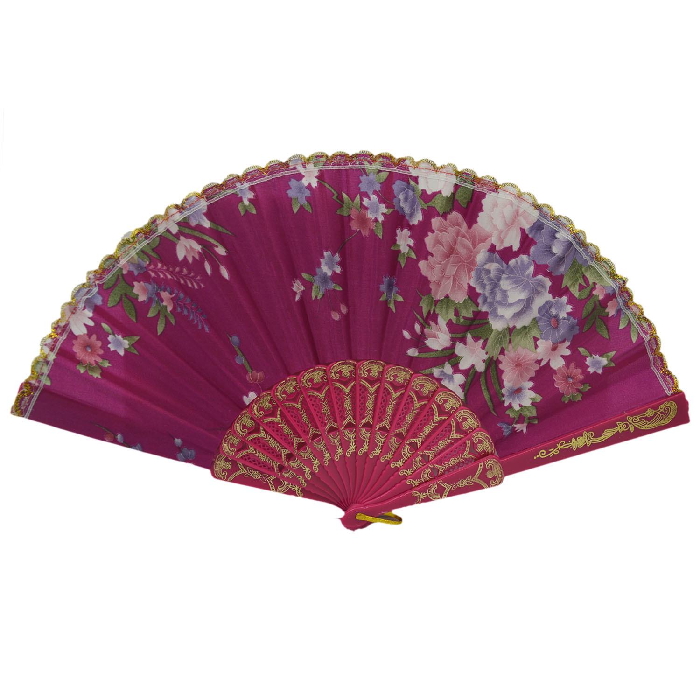 Vococal Handleld Folding Art Craft Hand Fan (Rose)