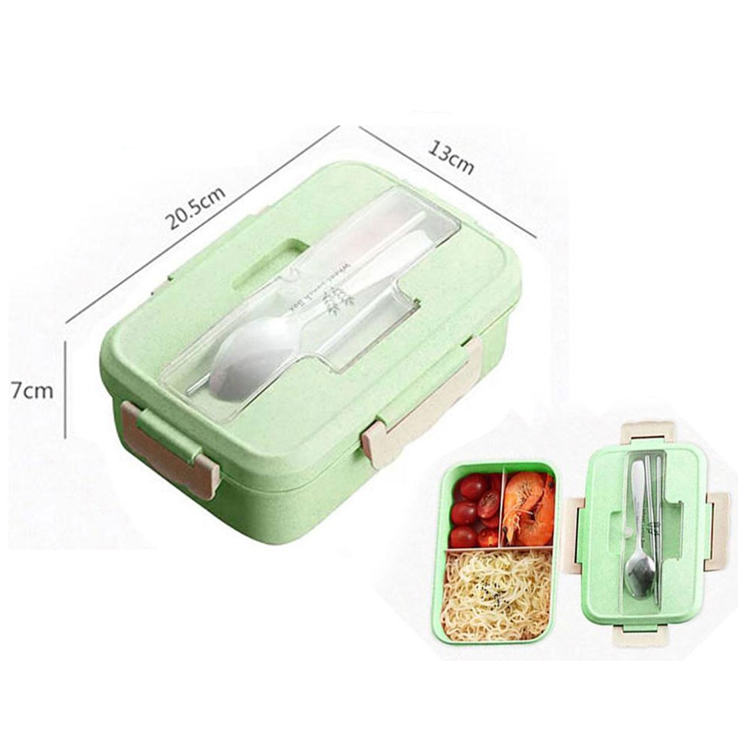 Quality Assurance Wheat Straw Material Eco-Freindly Lunch Box with Utensils