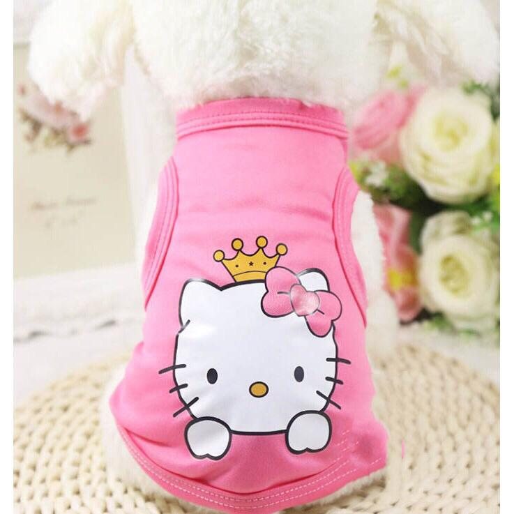 fcce0f971a42 Pink kitty Pet Dog Clothes Cat Spring Summer Shirt Small Clothes Vest T  Shirt