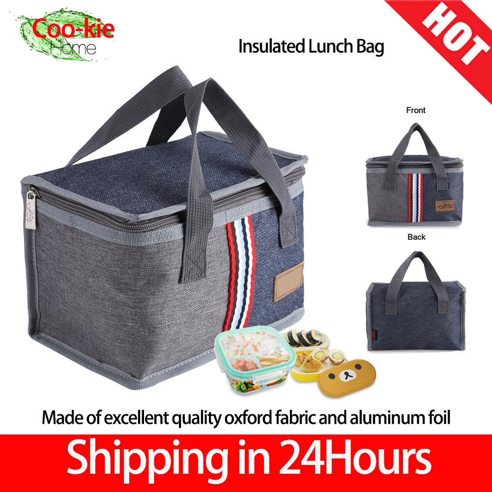 c14c9b89a 【Shipping in 24 hours】Modern Simplicity Insulated Lunch Bag Portable Insulated  Thermal Cooler Lunch