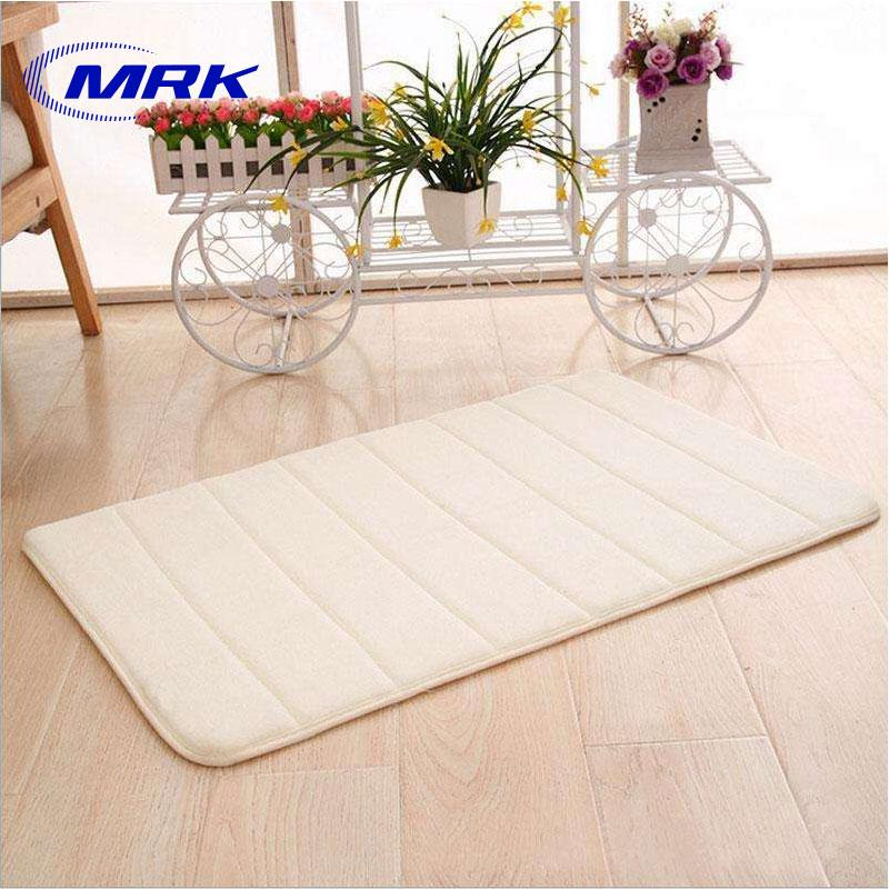 40cmx60cm Memory Foam Rug Mat Bathroom Bedroom Non-Slip Mats Shower Carpet By Mrk.