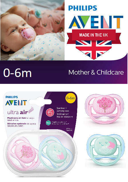 2 pack 0-6 months pink fashion decos SCF343/20 Philips Avent Ultra ...