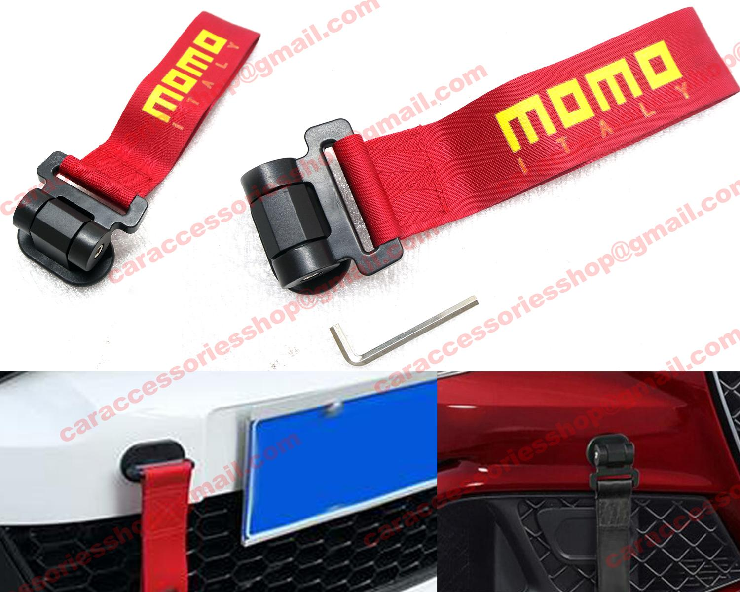 Momo Dummy Towing Strap Stylish For All Car Use - Red