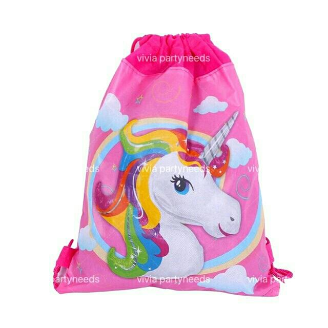 Unicorn Cloth String Eco Bag 27cmx34cm By Ah K Asta Store.