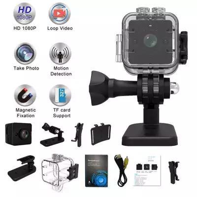 SQ12 Full HD 1080P Mini DV Camera Waterproof Outdoor IR Night Vision Video  Recorder Wide Angle 155°