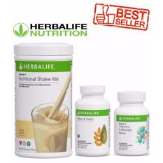 Herbalife Healthy Weight Loss Program French Vanilla Fiber And Herb Vitamins And Minerals Best Set