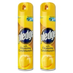 Pledge Lemon Furniture Polish 2 Pack (300ml Per Pack) By Tera Mart