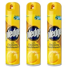 Pledge Lemon Furniture Polish 3 Pack (300ml Per Pack) By Mega Mart.